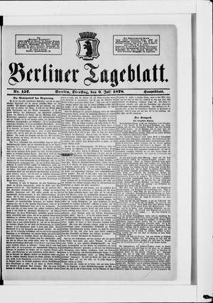 Berliner Tageblatt und Handels-Zeitung vom 09.07.1878
