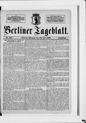 Berliner Tageblatt und Handels-Zeitung vom 10.07.1878
