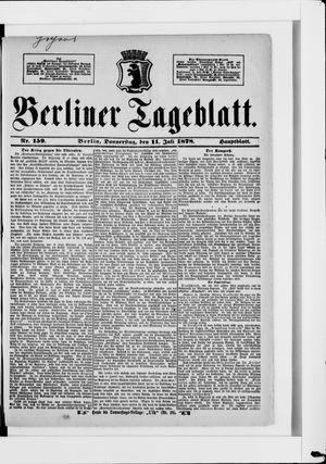 Berliner Tageblatt und Handels-Zeitung vom 11.07.1878