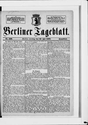 Berliner Tageblatt und Handels-Zeitung vom 12.07.1878