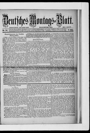 Berliner Tageblatt und Handels-Zeitung vom 15.07.1878
