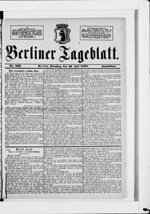 Berliner Tageblatt und Handels-Zeitung vom 16.07.1878