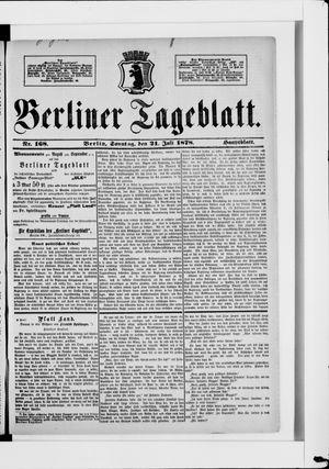 Berliner Tageblatt und Handels-Zeitung vom 21.07.1878