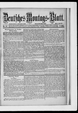 Berliner Tageblatt und Handels-Zeitung vom 22.07.1878