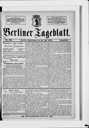 Berliner Tageblatt und Handels-Zeitung vom 25.07.1878