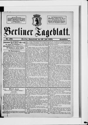 Berliner Tageblatt und Handels-Zeitung vom 27.07.1878