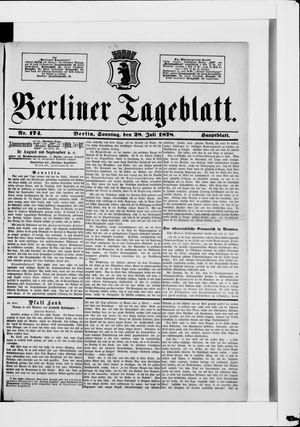 Berliner Tageblatt und Handels-Zeitung vom 28.07.1878
