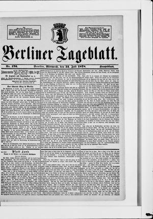 Berliner Tageblatt und Handels-Zeitung vom 31.07.1878