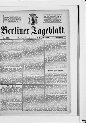 Berliner Tageblatt und Handels-Zeitung vom 03.08.1878