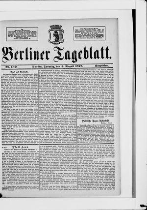 Berliner Tageblatt und Handels-Zeitung vom 04.08.1878