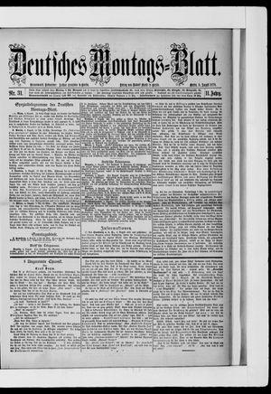 Berliner Tageblatt und Handels-Zeitung vom 05.08.1878