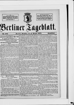 Berliner Tageblatt und Handels-Zeitung vom 06.08.1878