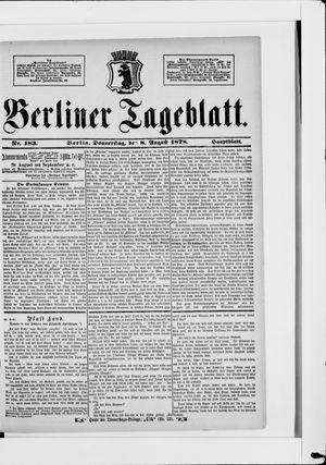 Berliner Tageblatt und Handels-Zeitung vom 08.08.1878