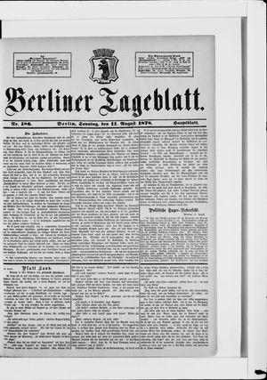 Berliner Tageblatt und Handels-Zeitung vom 11.08.1878