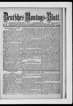Berliner Tageblatt und Handels-Zeitung vom 12.08.1878