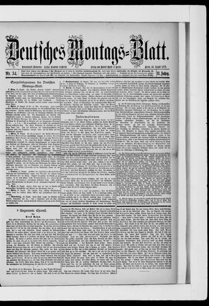 Berliner Tageblatt und Handels-Zeitung vom 26.08.1878