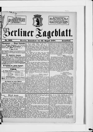 Berliner Tageblatt und Handels-Zeitung vom 31.08.1878
