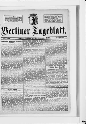 Berliner Tageblatt und Handels-Zeitung vom 03.09.1878