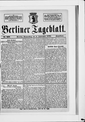 Berliner Tageblatt und Handels-Zeitung on Sep 5, 1878