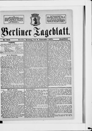 Berliner Tageblatt und Handels-Zeitung vom 08.09.1878