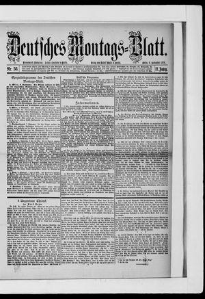 Berliner Tageblatt und Handels-Zeitung on Sep 9, 1878