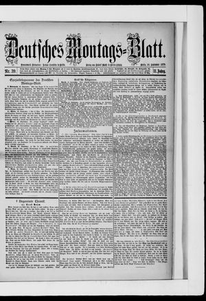 Berliner Tageblatt und Handels-Zeitung vom 30.09.1878