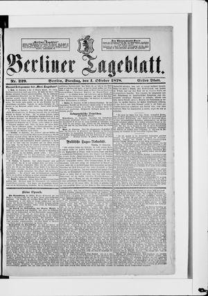 Berliner Tageblatt und Handels-Zeitung vom 01.10.1878