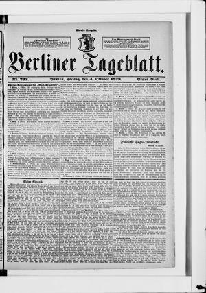 Berliner Tageblatt und Handels-Zeitung vom 04.10.1878
