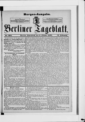 Berliner Tageblatt und Handels-Zeitung vom 05.10.1878