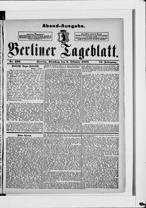 Berliner Tageblatt und Handels-Zeitung vom 08.10.1878