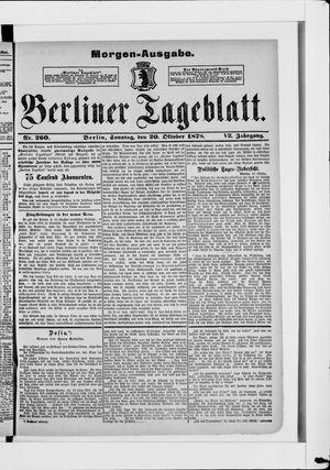 Berliner Tageblatt und Handels-Zeitung vom 20.10.1878