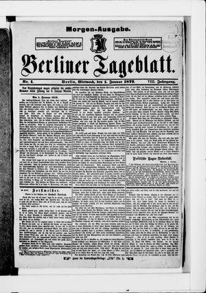 Berliner Tageblatt und Handels-Zeitung vom 01.01.1879