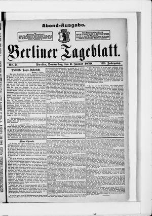 Berliner Tageblatt und Handels-Zeitung vom 02.01.1879