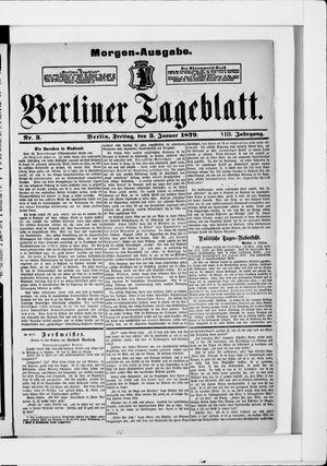 Berliner Tageblatt und Handels-Zeitung vom 03.01.1879