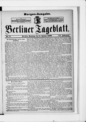 Berliner Tageblatt und Handels-Zeitung on Jan 5, 1879