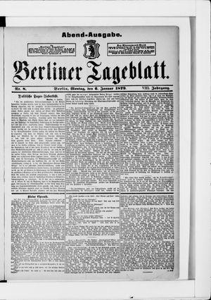 Berliner Tageblatt und Handels-Zeitung on Jan 6, 1879