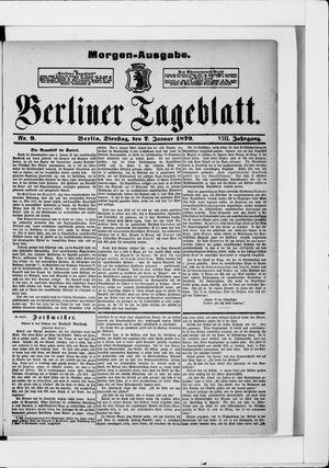Berliner Tageblatt und Handels-Zeitung vom 07.01.1879