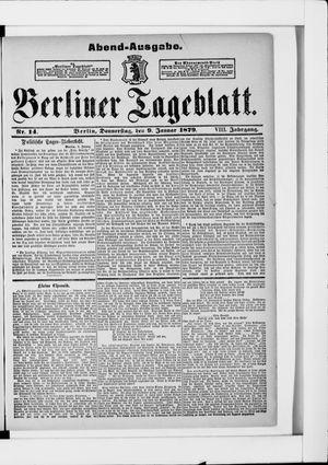 Berliner Tageblatt und Handels-Zeitung vom 09.01.1879