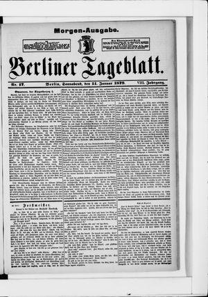 Berliner Tageblatt und Handels-Zeitung on Jan 11, 1879
