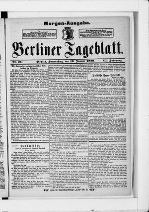Berliner Tageblatt und Handels-Zeitung vom 16.01.1879