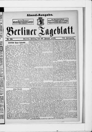 Berliner Tageblatt und Handels-Zeitung vom 17.01.1879