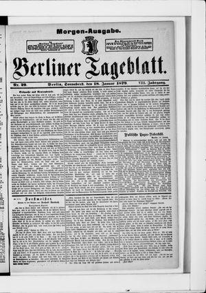 Berliner Tageblatt und Handels-Zeitung vom 18.01.1879