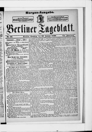 Berliner Tageblatt und Handels-Zeitung vom 19.01.1879