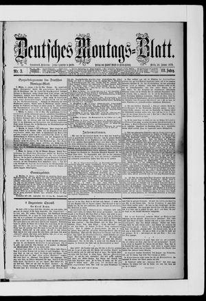 Berliner Tageblatt und Handels-Zeitung vom 20.01.1879