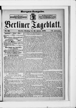 Berliner Tageblatt und Handels-Zeitung vom 21.01.1879