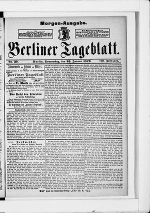 Berliner Tageblatt und Handels-Zeitung vom 23.01.1879