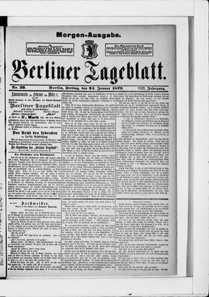 Berliner Tageblatt und Handels-Zeitung vom 24.01.1879