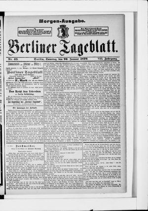 Berliner Tageblatt und Handels-Zeitung vom 26.01.1879