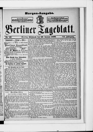 Berliner Tageblatt und Handels-Zeitung vom 29.01.1879