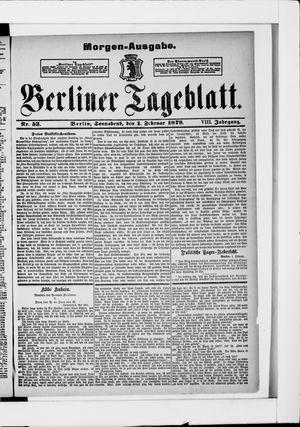 Berliner Tageblatt und Handels-Zeitung vom 01.02.1879